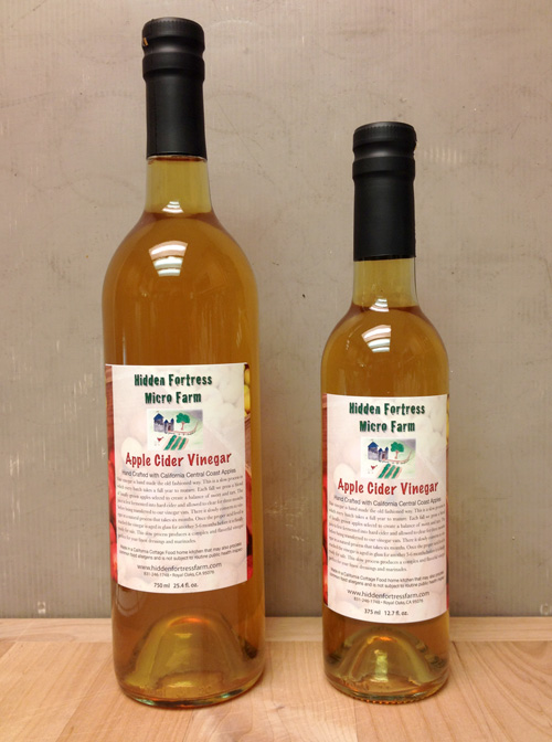 Hand crafted apple cider vinegar