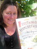 Sustainable Home Brewing book held by the author Amelia Loftus